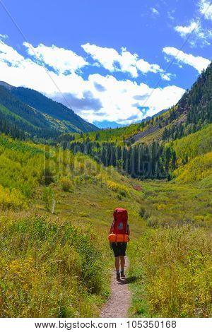 Hiker Backpacker Colorado Fall