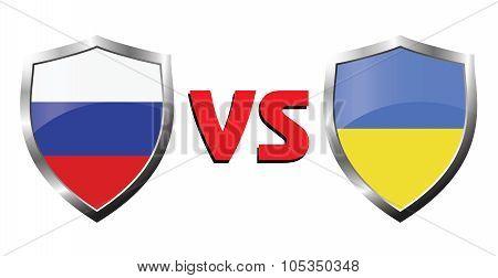 Russia Vs Ukraina Flag Icons Theme