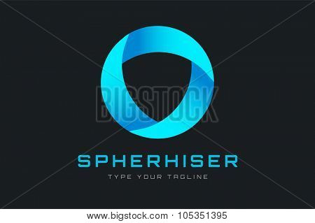 Technology orbit web rings logo. Vector circle ring logo design. Abstract circle logo template. Round ring circle and infinity loop symbol, technology icon, circle line logo. Company logo. Logo design