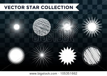 Sun burst, star or snowflakes logo icon set. Sun, star, summer, nature, sky, summer. Sunshine star logo. Sun icons. Sun logo. Nature sun star. Star vector icons logo. Star sun silhouette. Sun isolated