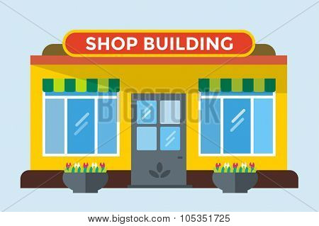Shop buildings vector isolated. Shop building silhouette, shop vector building. Supermarket shop, shop building. Some shop vector illustration. Shop vector outdoor. Shop building, shop isolated
