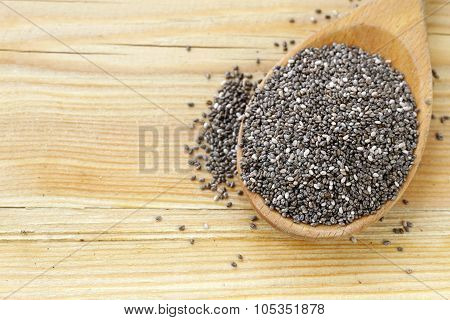 natural organic chia seeds - healthy eating, super food