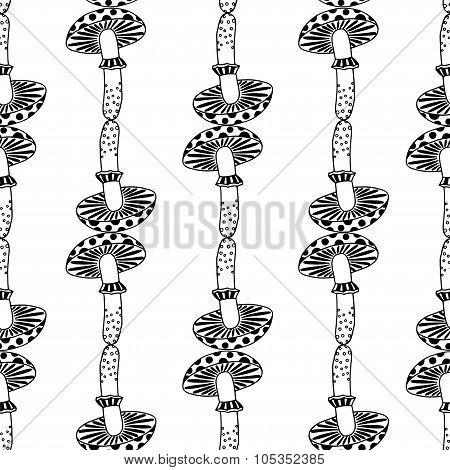 Zentangle Amanita Mushrooms