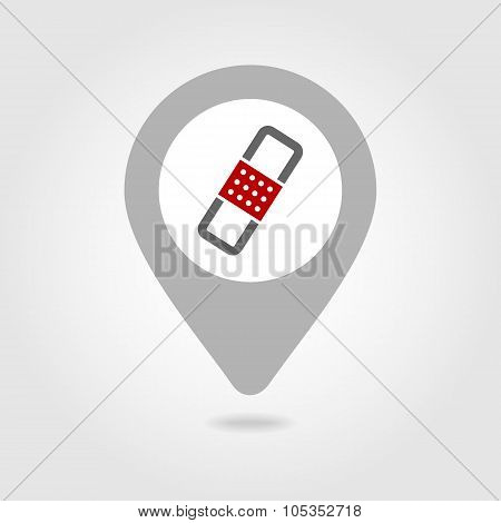 Band Aid map pin icon