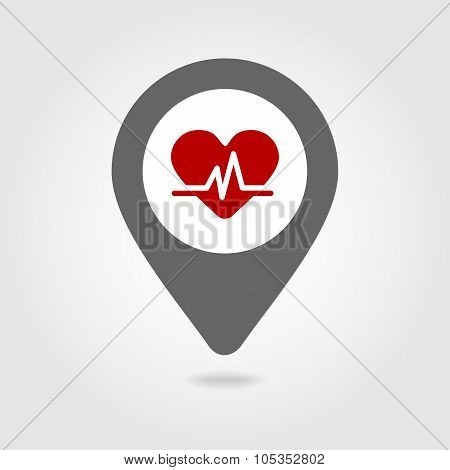Blood pressure map pin icon