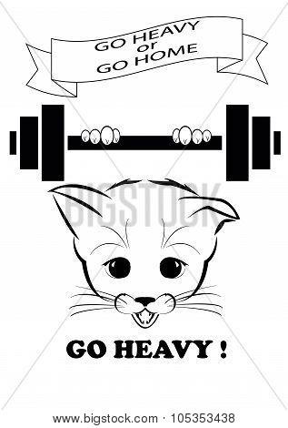 Boso holding heavy barbell. Go heavy.