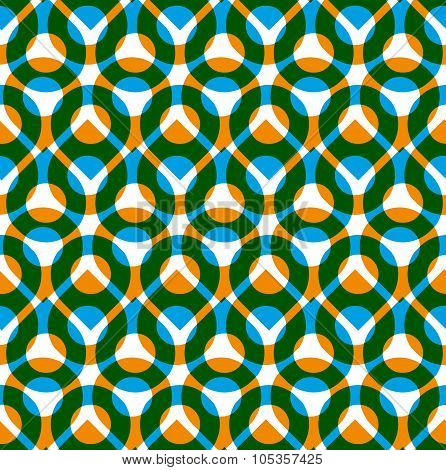 Colorful Vector Seamless Pattern With Green And Orange Droplets, Summer Bright Infinite Imposing Bac