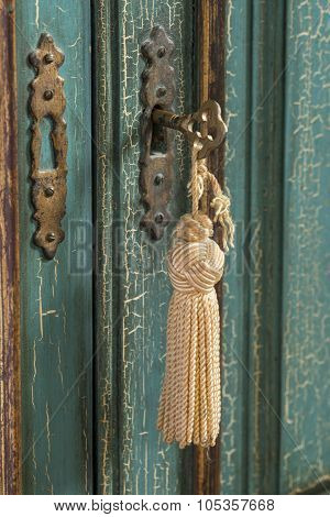 Antique Key With Tassle