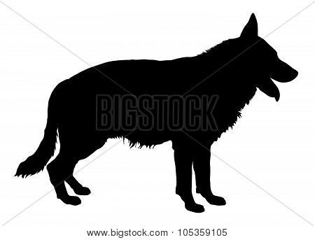 German Shepherd Silhouette