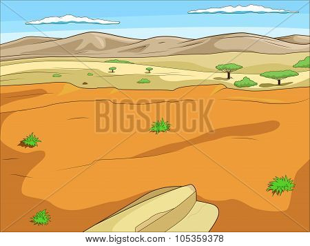 Educational game  African savannah background