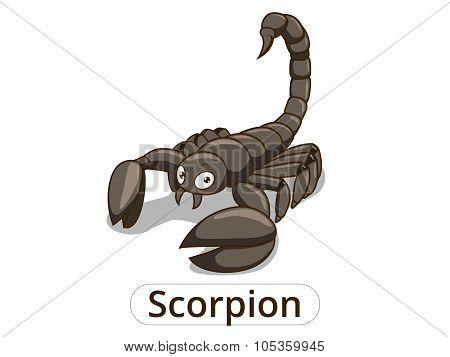 Scorpion african savannah cartoon illustration