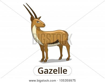 Gazelle african savannah cartoon illustration