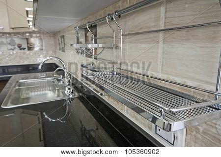 Kitchen Interior Design Of Luxury Apartment