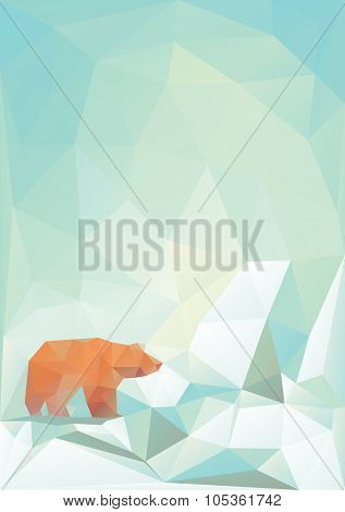 Modern vector bear