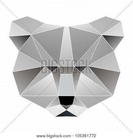 Modern vector bear portrait