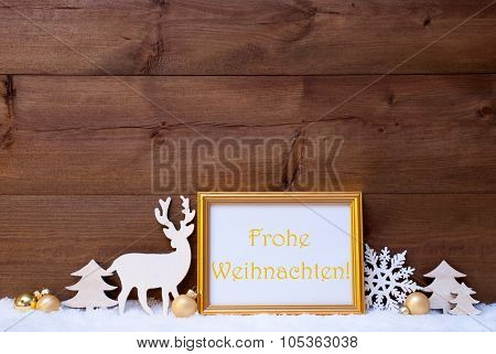 Card, Snow, Frohe Weihnachten Mean Merry Christmas