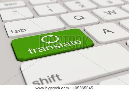 Keyboard - Translate - Green