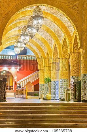 Arches Of A Corridor Of A Brick Street