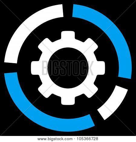 Industry Diagram Flat Icon