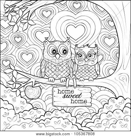 Art therapy colouring book for all ages