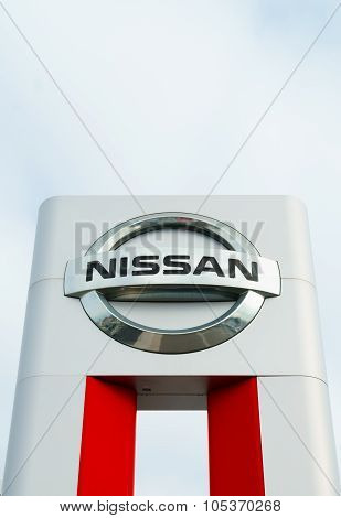 Nissan Motors Automobile Dealership Sign