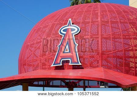 Iconic Oversized Baseball Cap At Angel Stadium Of Anaheim Entrance