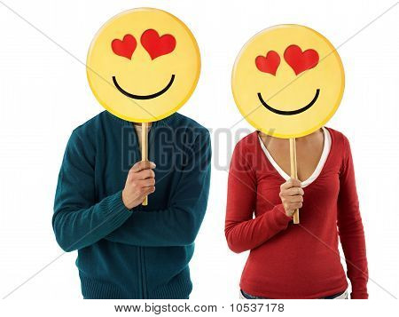 Couple With Emoticon