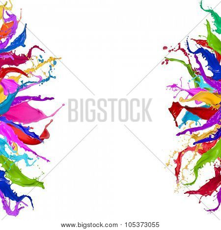 Colored splashes in stripe shape