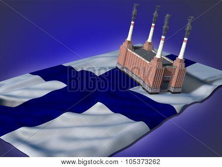 national heavy industry concept - Finnish theme