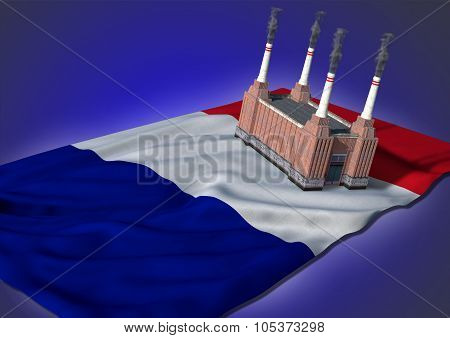 national heavy industry concept - French theme