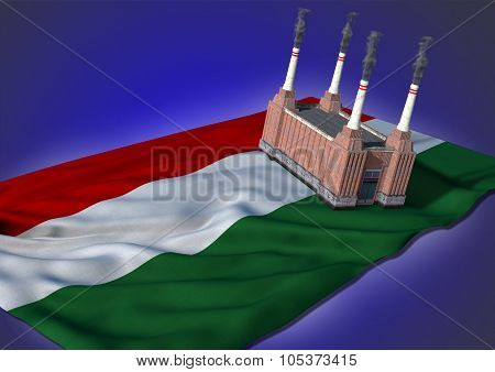 national heavy industry concept - Hungarian theme