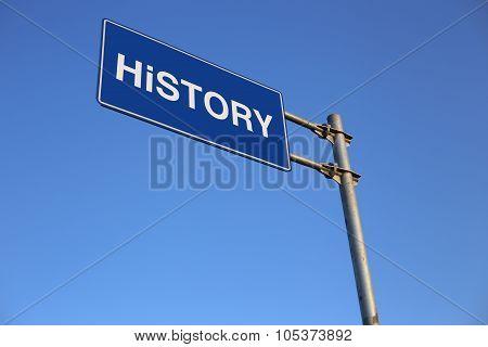 History Road Sign
