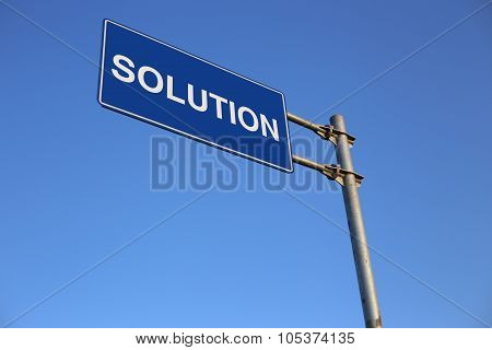 Solution Road Sign