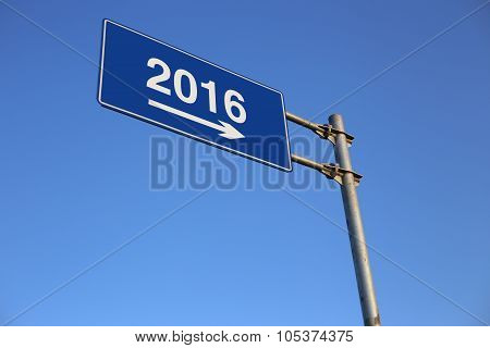 New Year Road Sign