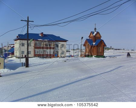 Yamal, Syo-yaha -  January 15, 2015: Appearance Of The Settlement Of Syo-yakh In The Winter.