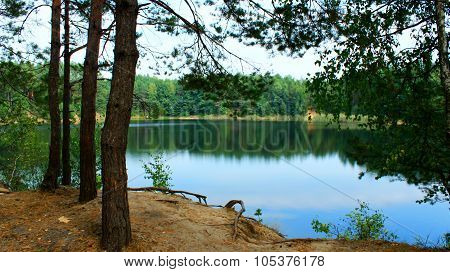 Landscape With Lake In The Forest