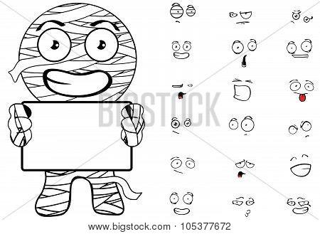 mummy cartoon emotions singboard