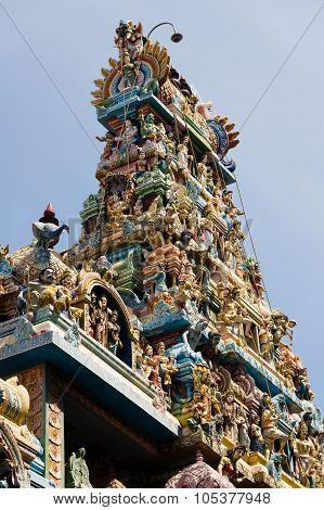 Statues On Hindu Temple