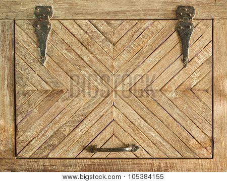 Old wooden door with grooves