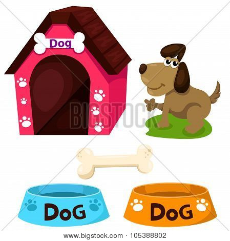 Illustrator of dog home set