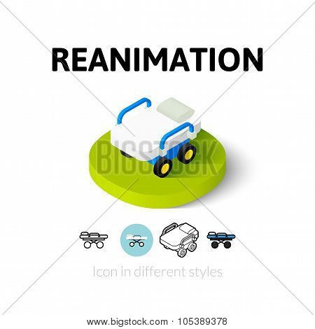 Reanimation icon in different style