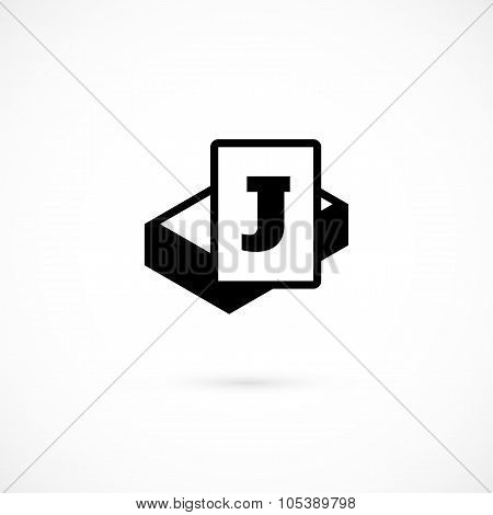 Joker card icon isolated on white background