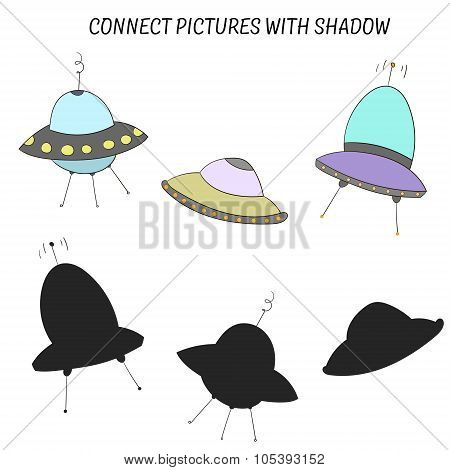 Educational game connect with shadow