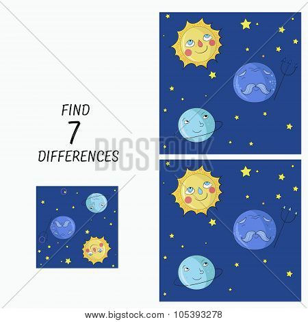Educational game  find the differences