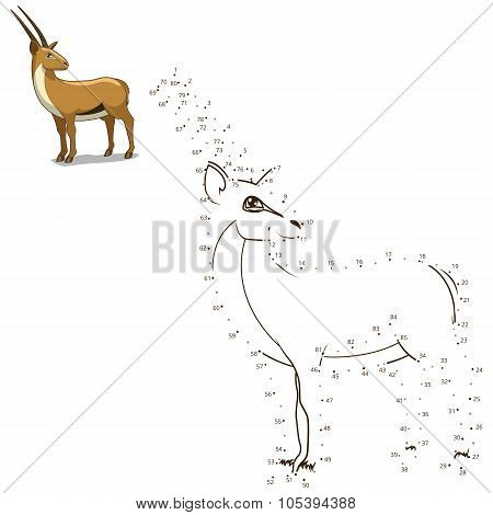 Connect the dots to draw  animal educational game