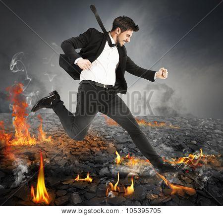 Running on hot coals