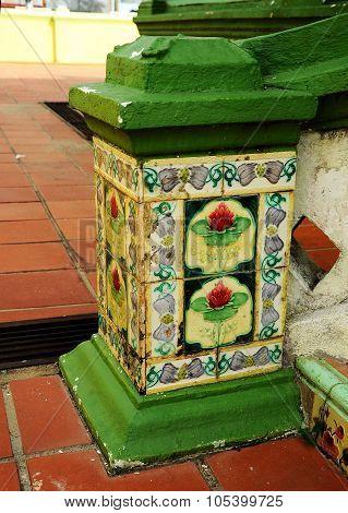 Tiling detail at Air Barok Mosque at Jasin Malacca, Malaysia