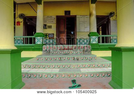 Entrance of Air Barok Mosque at Jasin Malacca, Malaysia