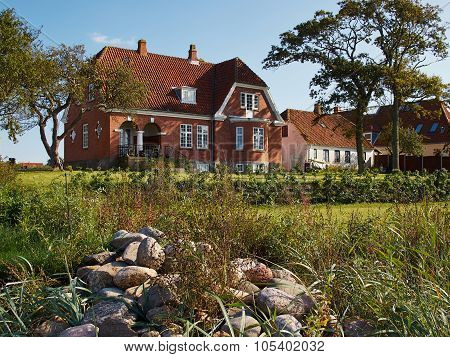 Colored Traditional Danish House
