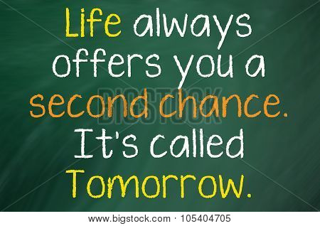 Life always gives you a Second Chance